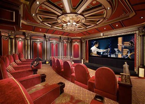pics  lavish home theaters homes   rich