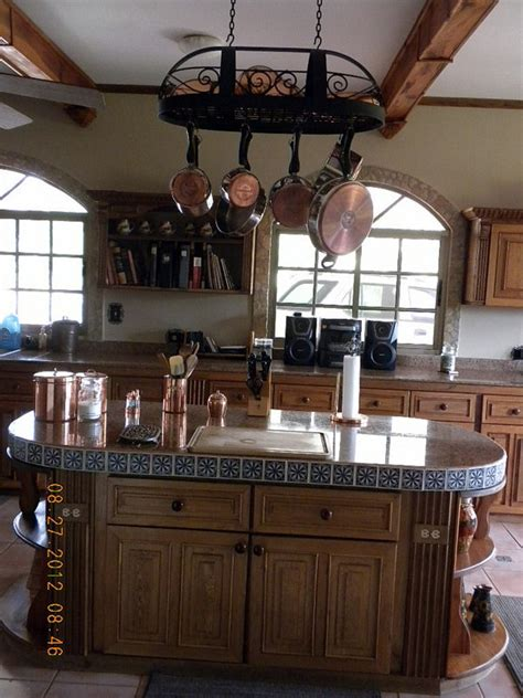 kitchen island with pot rack kitchen potrerillos arriba villa de los sue 241 os 8259