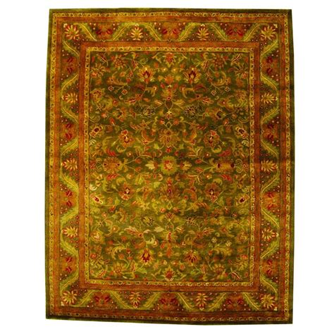 4 Area Rugs by Safavieh Antiquity Green Gold 4 Ft X 6 Ft Area Rug At52k