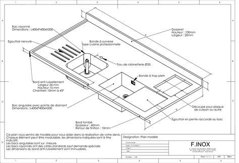 plan de travail cuisine grande largeur plan de travail grande profondeur galerie et cuisine inox