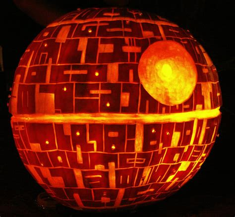 Geek Pumpkins In Honor Of Halloween And The New Star Wars