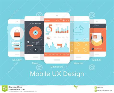 the state of the modern smartphone user interface tested mobile ux stock vector image 44362258