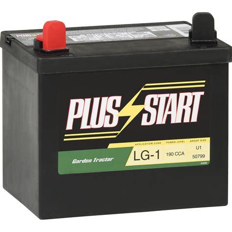 garden tractor battery plus start lawn garden battery size u1 price