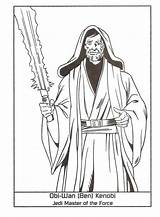 Windu Coloring Mace Getcolorings Master Pages sketch template