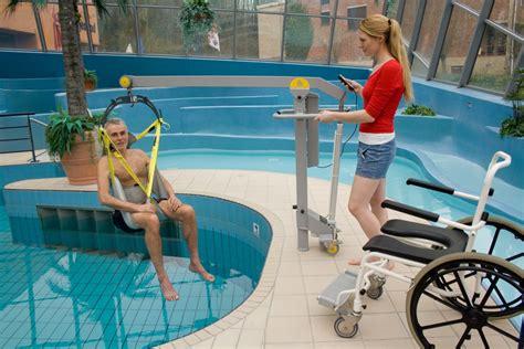 wheelchair to water pool lift surehands