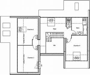 plan maison etage 2 chambres celesteplan maison toit 1 With plan maison etage 100m2 2 maison bbc 2 detail du plan de maison bbc 2 faire