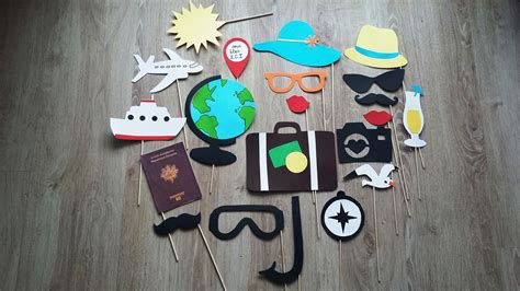 accessoires photobooth   theme voyage mariage