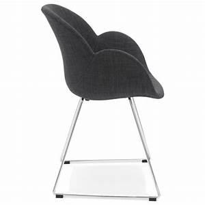 Chaise Tissu Design : chaise design pied effil adele en tissu gris fonc ~ Maxctalentgroup.com Avis de Voitures