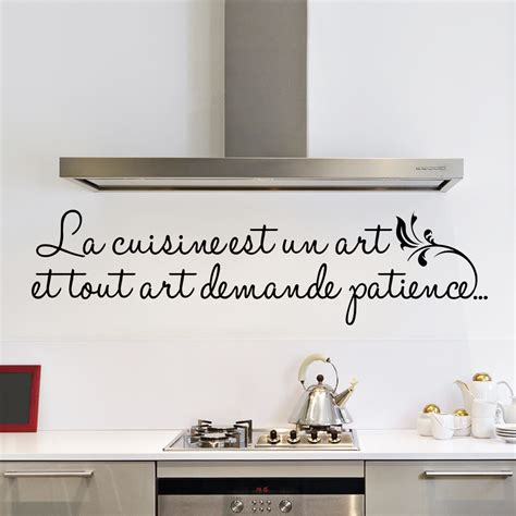 poser du carrelage mural cuisine sticker la cuisine est un stickers citations