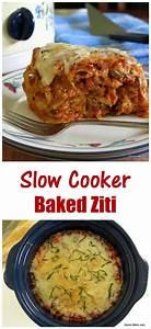 Crock Pot Baked Ziti with Three Cheeses