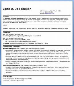 Mechanical engineering resume sample pdf experienced for Resume samples for experienced mechanical engineers