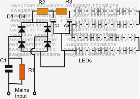 Led Bulb 9 C Wiring Schematic by Simple Led Bulb Circuit Electronik 12v Led 12v Led
