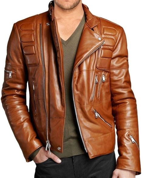 real leather motorcycle jackets brand new men 39 s genuine lambskin leather motorcycle slim
