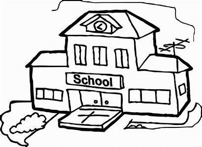 Coloring Pages Building Drawing Inside Printable Line