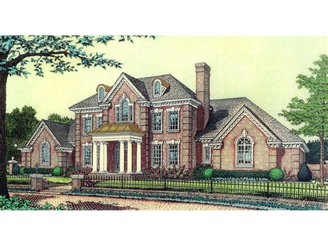 anssonnette luxury colonial home plan   house plans