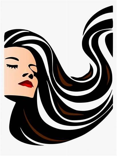 Silhouette Flowing Clipart Pngitem Salon Transparent Parlour