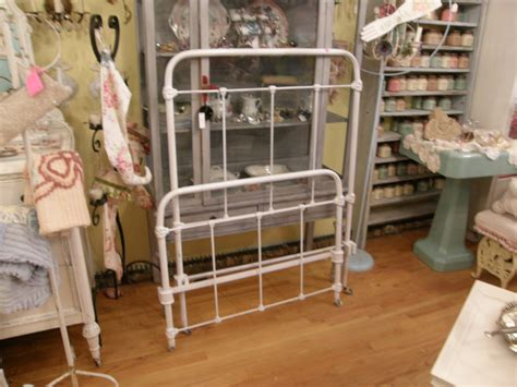 Vintage Iron Bed by Antique Wrought Iron Bed Frame White Single Shabby Chic