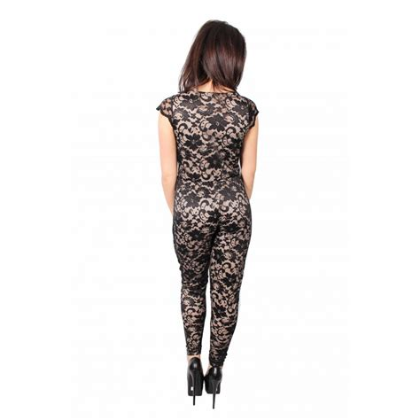 lace jumpsuit black niamh lace black and jumpsuit from parisia fashion