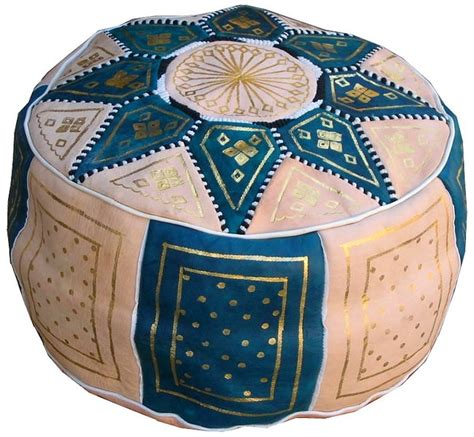 moroccan pouf ottoman moroccan leather pouf poof ottoman footstool ebay