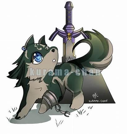 Link Wolf Chibi Zelda Legend Commission Twilight