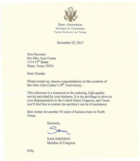 anniversary congratulatory letter yelp