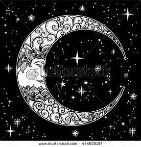 Crescent Moon Face Stock Vectors & Vector Clip Art ...