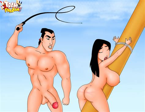 Big breasted Mulan is being punished for deceiving her ...