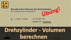 Volumen Berechnen Liter : drehzylinder volumen berechnen bung youtube ~ Themetempest.com Abrechnung