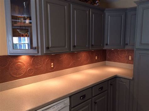 copper kitchen backsplash ideas hometalk diy kitchen copper backsplash