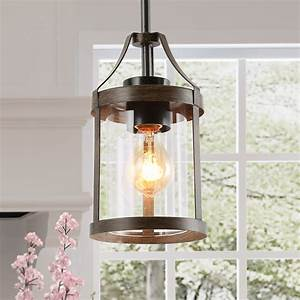 Farmhouse, Kitchen, Pendant, Lights, Mini, Wood, Hanging, Ceiling, Lighting, For, Kitchen, Island, Dining