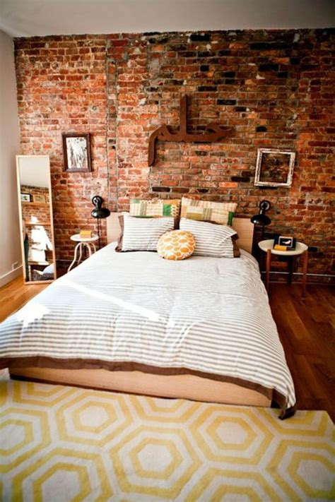 decorating brick wall how you could decorate a brick wall behind your bed 31 ideas interior design ideas avso org