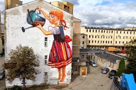 most mural artists rak new mural for folk on the białystok