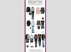 How to Pack a Fall CarryOn Capsule for Europe Travelista