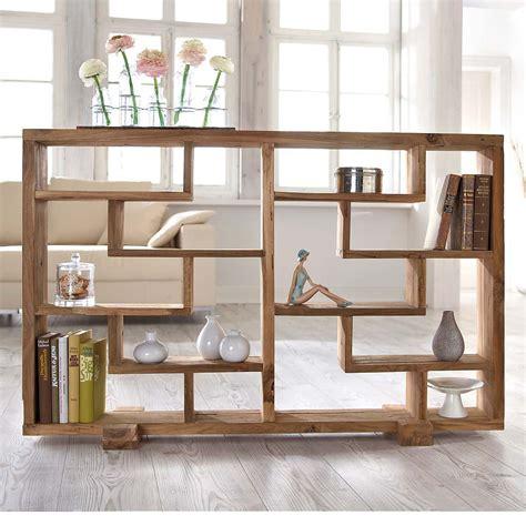 Raumteiler Regal Holz by Raumteiler Quot Woody Quot Naturbelassen Teak Holz Standregale