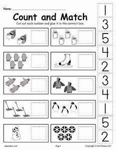 Cut And Paste Numbers Worksheet For Preschool
