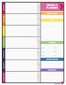free weekly planner templates best agenda templates With week by week planner template