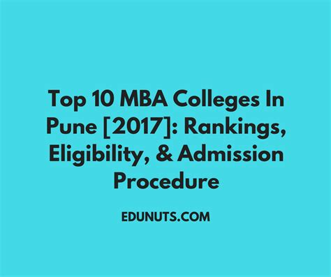 top  mba colleges  pune  rankings eligibility