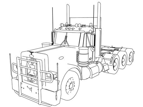 Peterbilt Truck Coloring Pages Coloring Pages