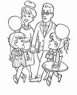 Coloring Parents Grandparents Visiting Pages Gran Obeying Colouring Template Celebration Grandpa Sketch sketch template