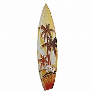Planche Surf Deco : d co planche de surf d co palmiers d coration chez decowoerner ~ Teatrodelosmanantiales.com Idées de Décoration