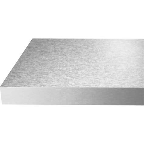 credence cuisine stratifié chant de plan de travail stratifié façon inox mat l 500 l 4 5 cm ep 1 mm leroy merlin