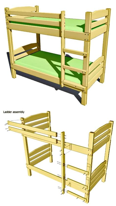 Bed Plans by Bedroom Endearing Bunk Bed Plans For Your Children