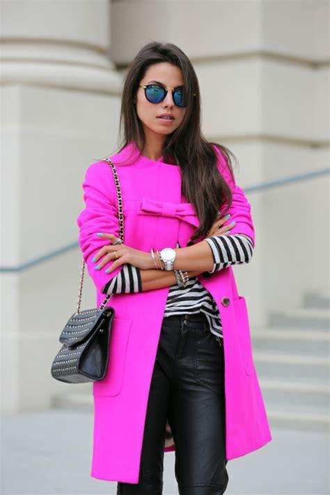 Coat: neon, neon pink, jacket, style, girl, women   Wheretoget