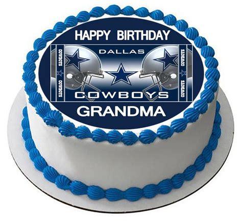 dallas cowboys  edible cake topper cupcake toppers