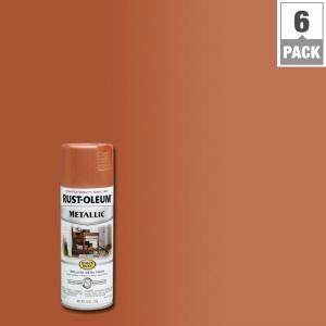 Rust oleum stops rust 11 oz copper protective enamel for Paint for wood furniture home depot