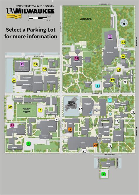 parking map uwm transportation services