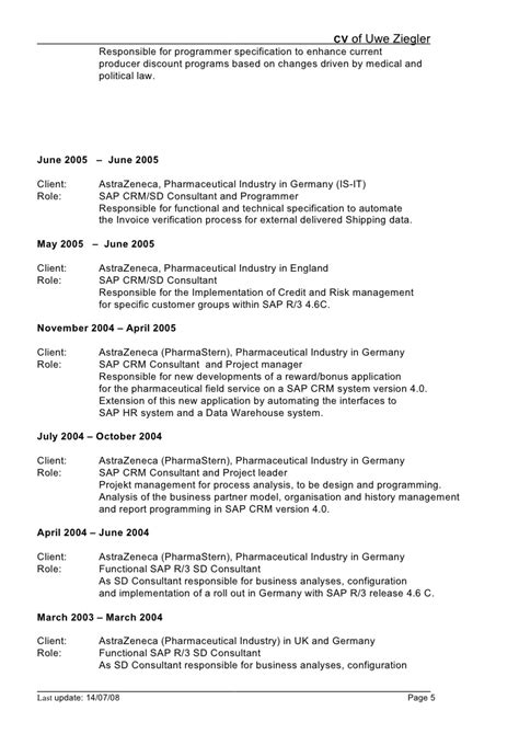 Sap Hr Time Management Resume by Sap Hr Techno Functional Resume