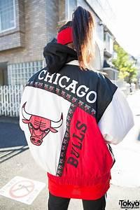 harajuku in chicago bulls bomber jacket adidas air