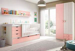 chambre de bebe fille complete avec lit evolutif With photo chambre bebe fille