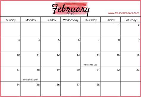 february calendar printable templates